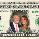 Melania & Donald Trump on a REAL Dollar Bill Collectible Memorabilia Cash Money Celebrity