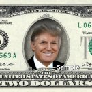 DONALD TRUMP on a REAL Two Dollar Bill $2 Cash Money Collectible Memorabilia Celebrity