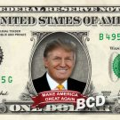 Donald Trump MAKE AMERICA GREAT AGAIN on REAL Dollar Bill Cash Money Collectible