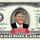 $2 Bill Donald Trump MAKE AMERICA GREAT AGAIN on a REAL Dollar Bill Cash Money