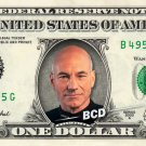 Jean Luc Picard on a REAL Dollar Bill Star Trek TNG Cash Money Collectible Memorabilia