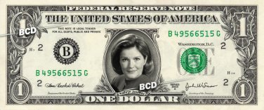 KATHRYN JANEWAY on a REAL Dollar Bill Star Trek Voyager Cash Money Collectible Memorabilia