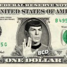 SPOCK on a REAL Dollar Bill Star Trek TOS Cash Money Collectible Memorabilia Celebrity