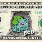 BULBASAUR on a REAL Dollar Bill Pokeman Cash Money Collectible Memorabilia Celebrity