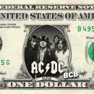 ACDC on a REAL Dollar Bill AC DC Cash Money Collectible Memorabilia Celebrity Novelty
