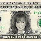 REBA MCENTIRE on REAL Dollar Bill - Celebrity Cash Money Art