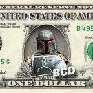 BOBA FETT - Real Dollar Bill Star Wars Cash Money Collectible Memorabilia Celebrity