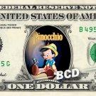 PINOCCHIO Movie - Real Dollar Bill Disney Cash Money Collectible Memorabilia Celebrity