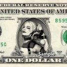 HARLEY QUINN - Real Dollar Bill DC Comics Cash Money Collectible Memorabilia Celebrity