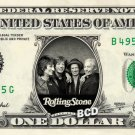 ROLLING STONES - Real Dollar Bill Cash Money Collectible Memorabilia Celebrity Novelty Bank Note
