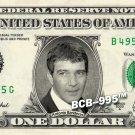 ANTONIO BANDERAS on REAL Dollar Bill - $1 Celebrity Custom Collectible Cash Mint