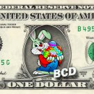 HAPPY EASTER Bunny - Real Dollar Bill Rabbit Cash Money Collectible Memorabilia