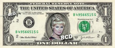 Janice Rand TOS Grace Lee Whitney Real Dollar Bill Star Trek Cash Money Collectible