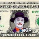 Jack Nicholson JOKER - Real Dollar Bill Cash Money Collectible Memorabilia Celebrity
