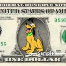 PLUTO - Real Dollar Bill Disney Cash Money Collectible Memorabilia Celebrity Novelty