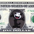 FELIX THE CAT on a Real Dollar Bill Cash Money Collectible Memorabilia Celebrity Novelty