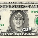 MICHAEL SCHUMACHER - Real Dollar Bill Cash Money Collectible Memorabilia Celebrity Novelty