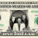 The BEE GEES on a REAL Dollar Bill Cash Money Memorabilia Collectible Celebrity