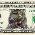 LINK Zelda - Real Dollar Bill Cash Money Collectible Memorabilia Celebrity Novelty
