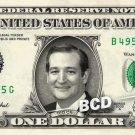 TED CRUZ - Real Dollar Bill Cash Money Collectible Memorabilia Celebrity Novelty Bank Note Dinero