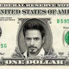 ROBERT DOWNEY JR Iron Man on REAL Dollar Bill Cash Money Bank Note Currency Ironman