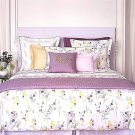 Yves Delorme Senteur Floral Reversble Duvet Cover 100% Cotton Percale $460 New