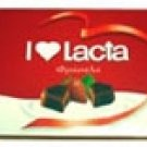 lacta milk chocolates filled with strawberry creme filling 125g
