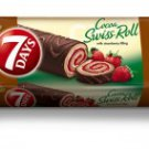 7 DAYS Cocoa Swiss Roll with strawberry filling 200gr