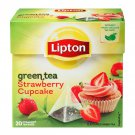 Lipton Green Tea Strawberry Cupcake 20 pyramid teabags