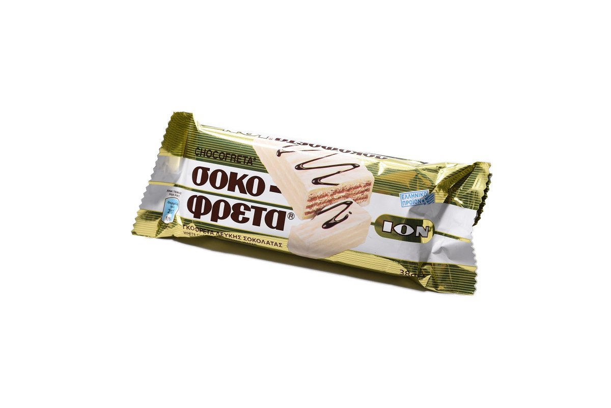ION CHOCOFRETA WHITE CHOCOLATE WAFER 38gr (pack of 5)