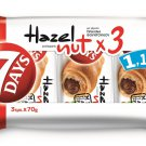 7DAYS CROISSANT WITH STUFFED HAZELNUT Praline  (3x70g)