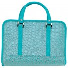 Gigi Chantal™ Turquoise Faux Alligator Bible Cover