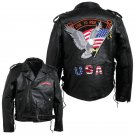 Diamond Plate™ Large Men's Hand-Sewn Pebble Grain Genuine Buffalo Leather Jacket