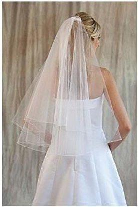 NEW Bridal Wedding VEIL - White or Ivory, 2 Layers, Waist Length, Pencil Edge