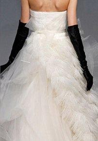Black Above the Elbow Length Bridal Wedding Gloves