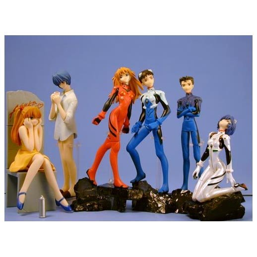 Neon Genesis Evangelion Gashapon Set of 6