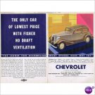 Chevrolet Master Coupe 1933 double page color ad E104