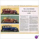 3 models 1933 Packard double page color ad E103-2