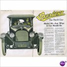 Overland Model 90 Automobile 1918 double page color ad E113