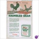 Kelloggs Krumbled Bran 1920 page color ad Battle Creek, Michigan E118