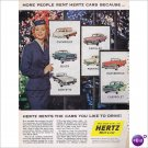 Hertz Rent A Car 1958 full page color ad E122