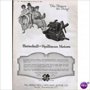Herschell Spillman Motor Tonawanda NY 1 page ad E124