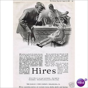 Hires Root Beer Grandpa grand daughter 1919 1 page ad E135