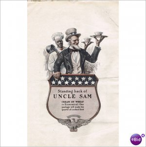 Cream of Wheat Rastus Uncle Sam 1918 1 page color ad E138