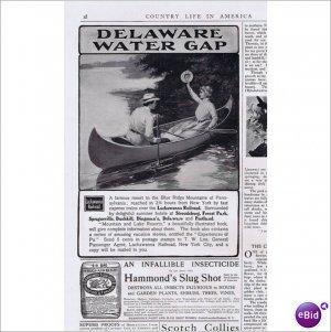 Delaware Water Gap Lackawanna RR  canoe trip 1902 ad E141
