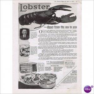 Frank Davis Co Gloucester lobster 1919 full page ad E142