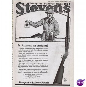 1920 Stevens Arms Co # 70 repeater rifle full page ad E-147
