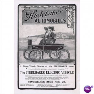 Electric Car Studebaker Brothers 1902 1 page ad  E152