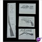 1904 1906 lever action rifle revolver ads lot of 4 E168