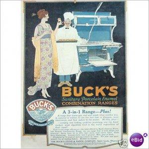 Bucks Stove & Range Co St Louis 1920 full page color ad   E170